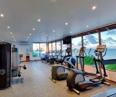 Modern gym overlooking the ocean