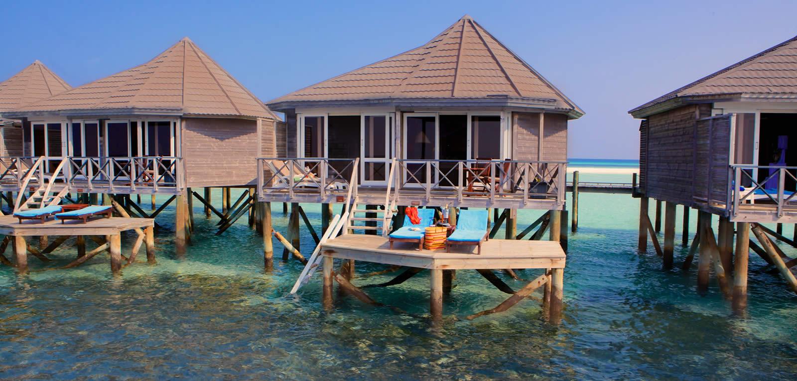 Wasservillen Auf Den Malediven Sangu Resort Auf Kuredu