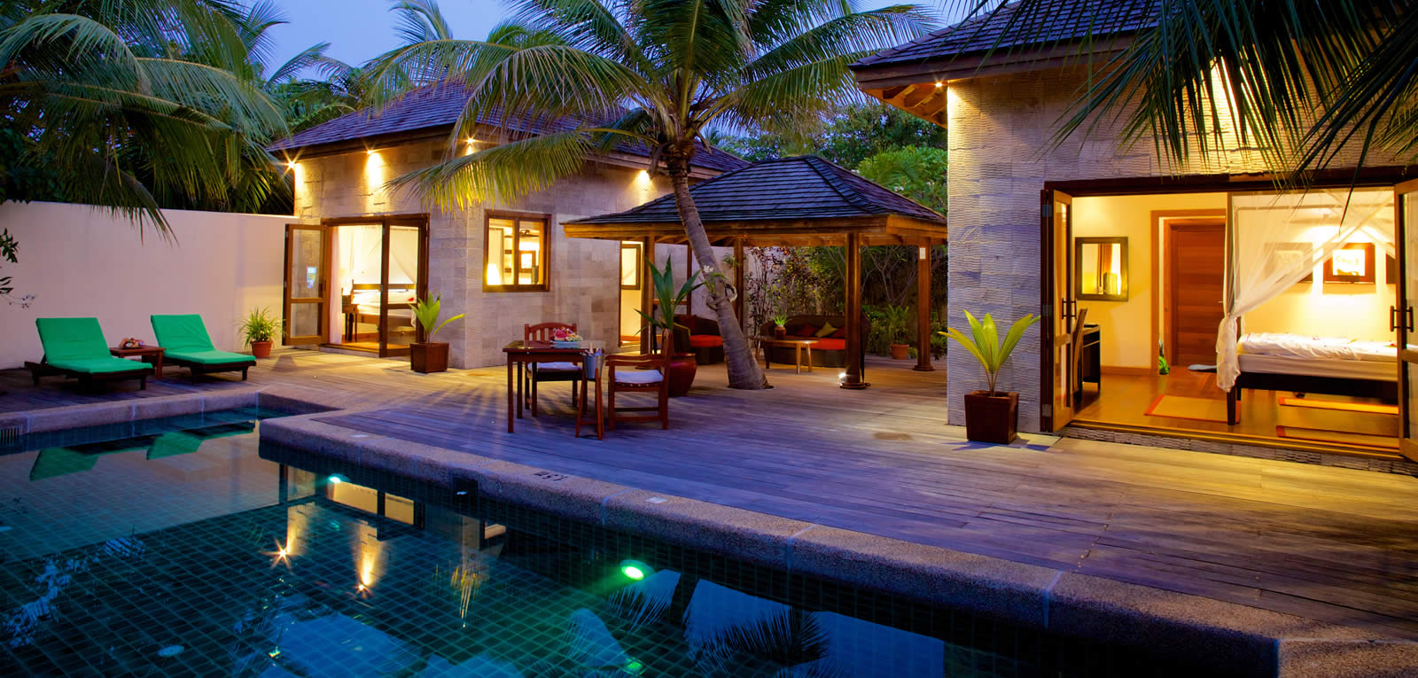 A Range Of Accommodation Options At Kuredu Maldives Resort