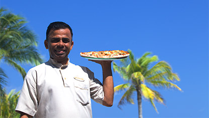 Best pizza in the Maldives