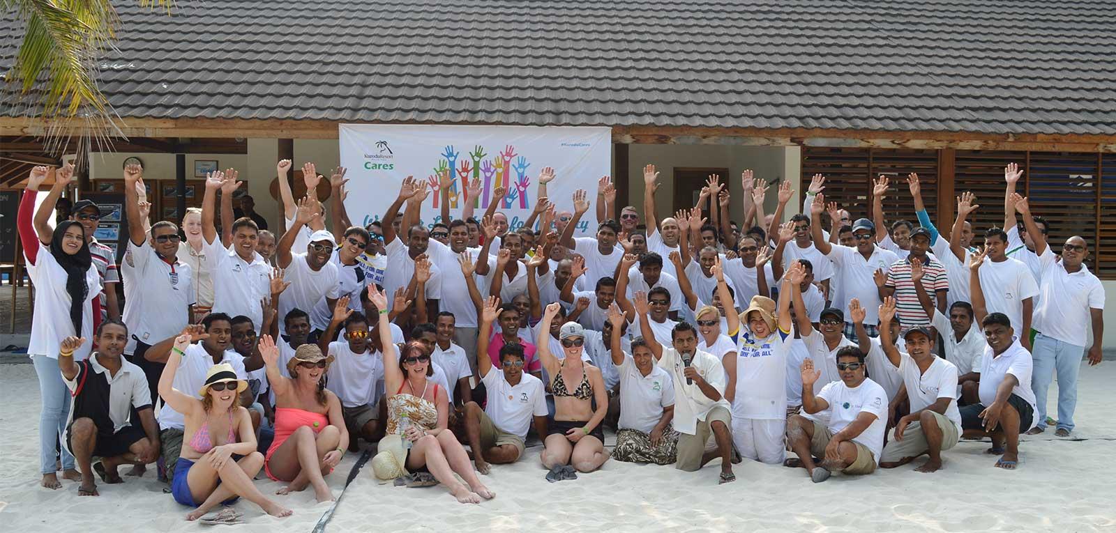 Charity walk kuredu maldives