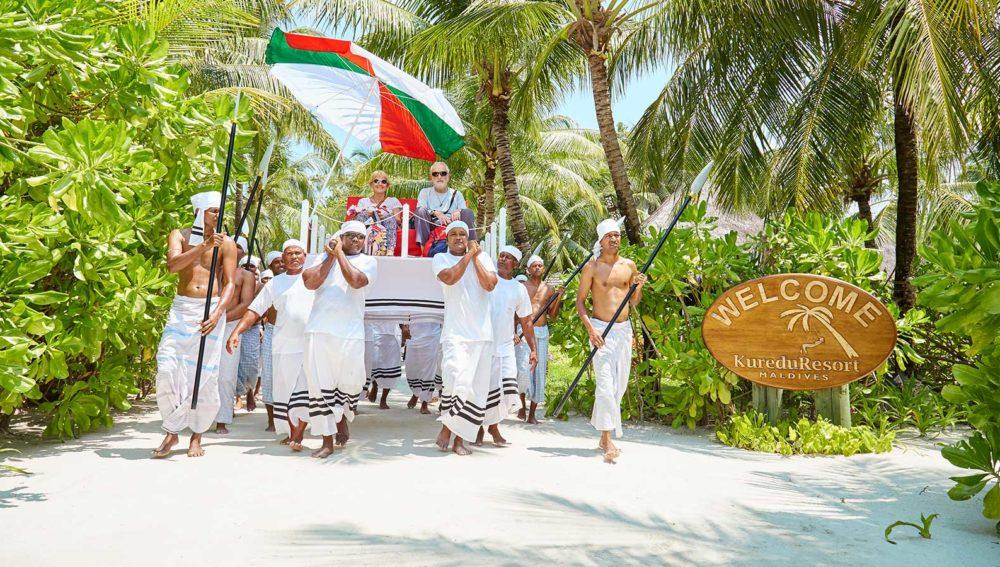Laurie and Terri Kuredu Maldives