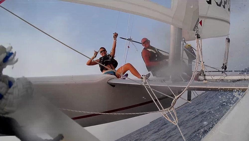 Catamaran Sailing Kuredu Maldives