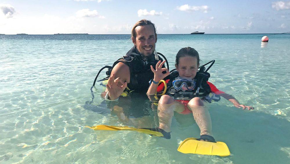 Kids Diving activities Maldives