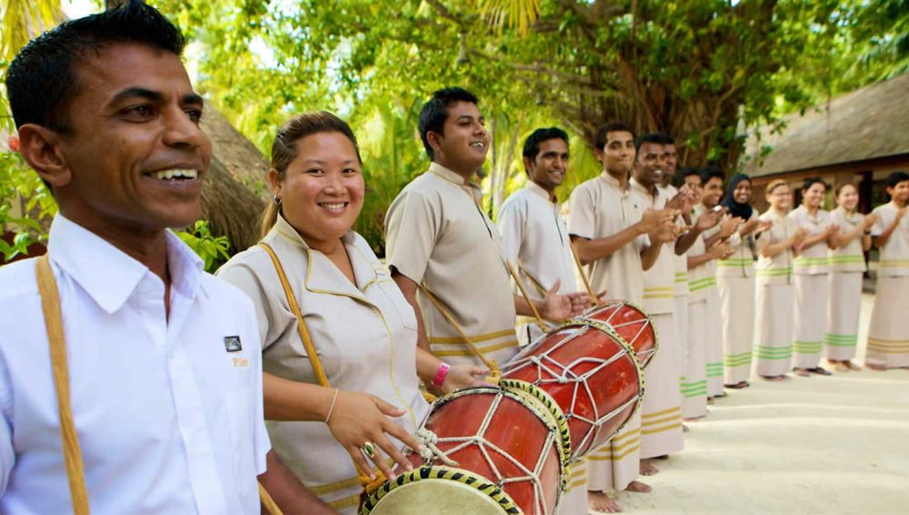 Kuredu Maldives welcome ceremony