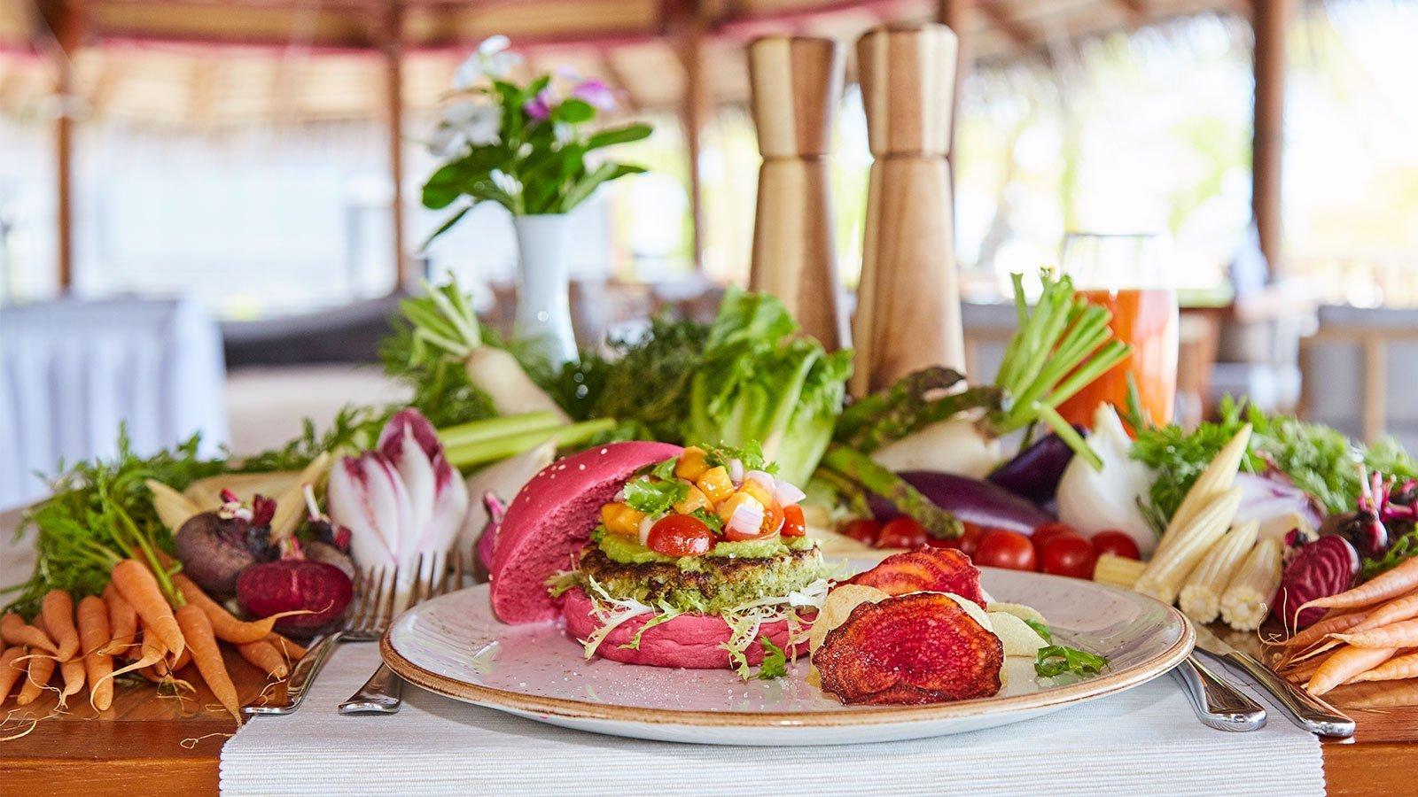 Veg Beach Shack Restaurant Kuredu Resort Maldives