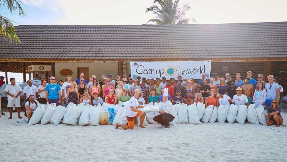 Clean up the world 2018 Kuredu Resort Maldives