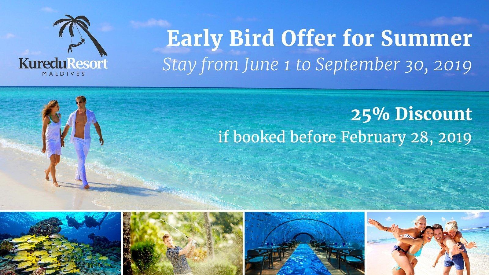 Kuredu Maldives Resort Early Bird Offer