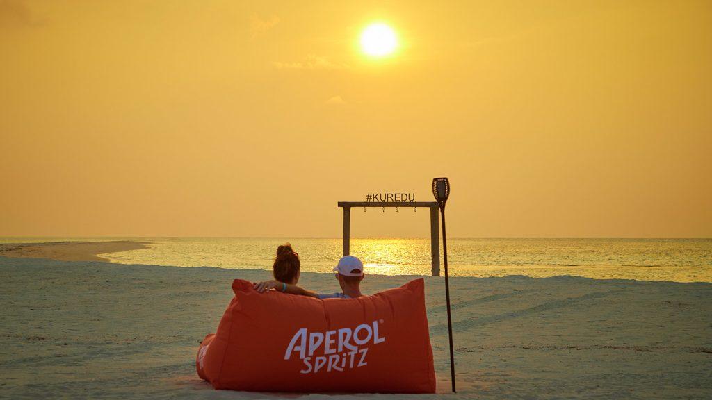Maldives sunset Aperol